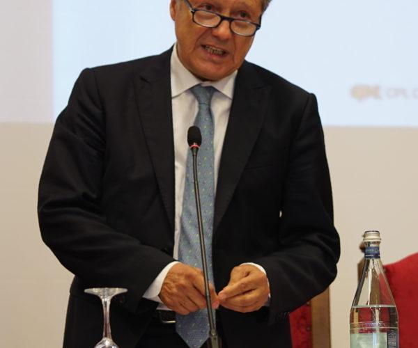 Il Presidente di CPL CONCORDIA Mauro Gori nel corso della sua relazione sulla Gestione